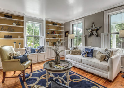 Home Staging Gallery - Living Room, View Three - Hamilton, Massachusetts