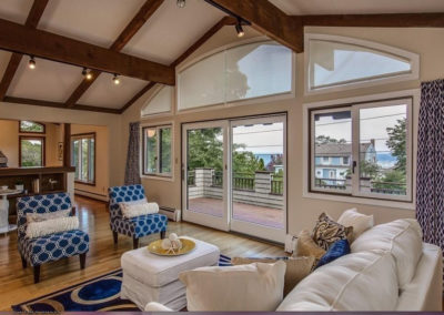 Home Staging Gallery - Living Room View Two - Rockport, Massachusetts