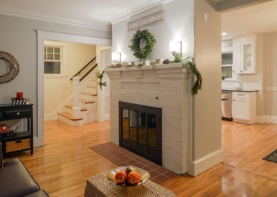 Renovations Gallery - Living Room Fireplace After - Melrose, Massachusetts