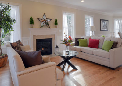 Home Staging Gallery - Living Room, View One - Hamilton, Massachusetts