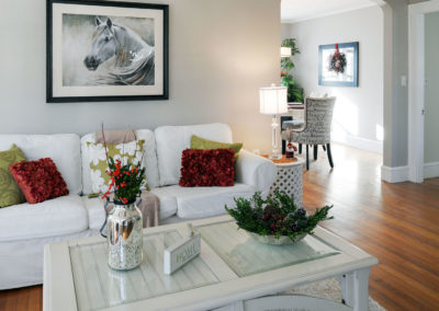 Home Staging Gallery - Living Room, View Two - Hamilton, Massachusetts