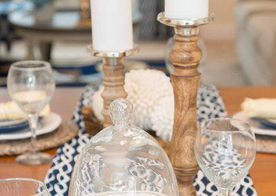 Seabrook, NH, Blue, white and yellow tablescape